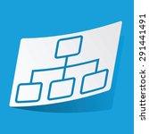 sticker with scheme icon ...