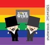 same sex marriage. love wins... | Shutterstock .eps vector #291441821
