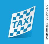 sticker with taxi icon ...
