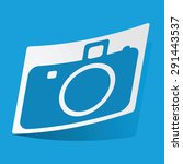 sticker with camera icon ...