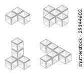 vector 3d cubes   Shutterstock .eps vector #29144602