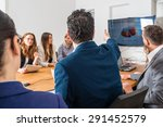 discussion during a business... | Shutterstock . vector #291452579