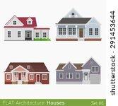 flat style modern buildings... | Shutterstock .eps vector #291453644