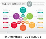 web template of a pyramidal... | Shutterstock .eps vector #291468731