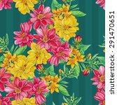 Seamless Pattern Of Dahlia...