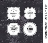 retro styled labels collection... | Shutterstock .eps vector #291474149