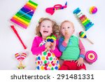 child with music instruments.... | Shutterstock . vector #291481331