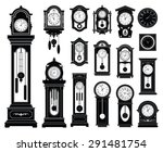 set of clocks. vector... | Shutterstock .eps vector #291481754