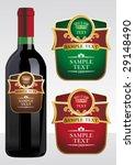wine label   Shutterstock .eps vector #29148490