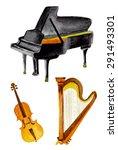 classical instruments in...   Shutterstock .eps vector #291493301
