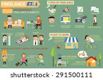 business man and woman in... | Shutterstock .eps vector #291500111