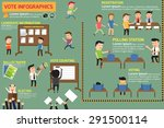election and voting infographic ...   Shutterstock .eps vector #291500114