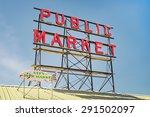 Neon Public Market Sign Against ...