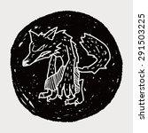 werewolf doodle | Shutterstock .eps vector #291503225