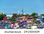 view of santa ana hill and the... | Shutterstock . vector #291504509