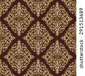 damask seamless colorful...   Shutterstock .eps vector #291513689