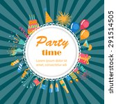 party time background with... | Shutterstock .eps vector #291514505