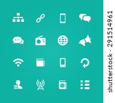 communication icons universal... | Shutterstock .eps vector #291514961