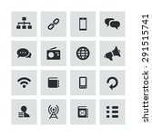 communication icons universal... | Shutterstock .eps vector #291515741