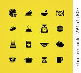 cooking icons universal set for ... | Shutterstock .eps vector #291515807