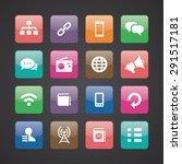 communication icons universal... | Shutterstock .eps vector #291517181