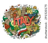 italy hand lettering and... | Shutterstock .eps vector #291520175