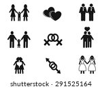 gay and lesbian icons set | Shutterstock .eps vector #291525164