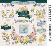 vector illustration of a floral ...   Shutterstock .eps vector #291532955
