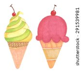 ice cream hand drawn... | Shutterstock .eps vector #291539981