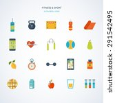 modern flat vector icons of... | Shutterstock .eps vector #291542495
