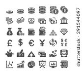 business icon set  vector eps10. | Shutterstock .eps vector #291544097