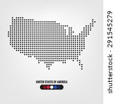 united states of america map... | Shutterstock .eps vector #291545279