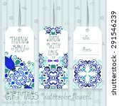 gift tags set for design.... | Shutterstock .eps vector #291546239