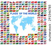 flags of the world and  map on... | Shutterstock . vector #291546785