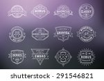 set of hipster vintage labels ... | Shutterstock .eps vector #291546821