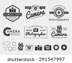 set of vintage modern insignia... | Shutterstock .eps vector #291547997