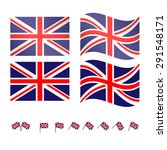 united kingdom flags 2 eps10 | Shutterstock .eps vector #291548171