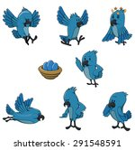 bird character set collection