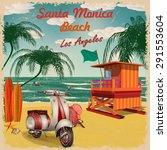 Santa Monica Beach  California...
