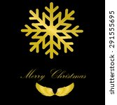 merry christmas card and... | Shutterstock .eps vector #291555695