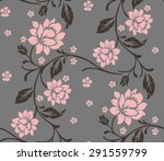 seamless pattern with beautiful ... | Shutterstock .eps vector #291559799