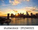 manhattan skyline and brooklyn... | Shutterstock . vector #291560321
