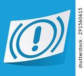 sticker with alert icon ...