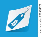 sticker with bitcoin price icon ...