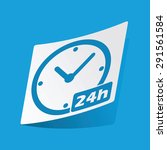 sticker with 24h workhours icon ...