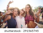 three best friends at the... | Shutterstock . vector #291565745