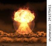 Powerful Explosion Nuclear Bom...