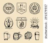 old brewery logos set. kraft... | Shutterstock .eps vector #291579557