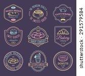 vector set of vintage bakery... | Shutterstock .eps vector #291579584