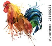 rooster illustration.  farms... | Shutterstock . vector #291600251